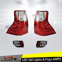 LED Tail Light For Toyota Prado J150 2014-2017 Red Clear With Rear Fog Lamp 4pcs