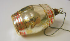 Antique Glass Wine Barrel Christmas Ornament RARE