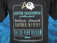 NOS vintage 90s STAR TREK 25 YEAR MISSION TOUR BUTTERY SOFT T-Shirt M sci fi 80s