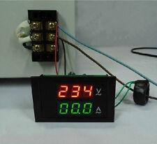 Digital AC Dual Display 300V 100A Volt Amp LED Panel Meter W Current Transformer