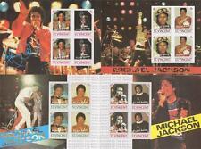 Lot de quatre michael jackson st. vincent imperforated timbre pvc