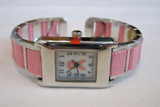 NEW Ladies Pink Breast Cancer Awareness  Watch, Ribbon