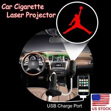 Car Cigarette Laser Projector Michael Jordan Logo Atmosphere Decor LED Light