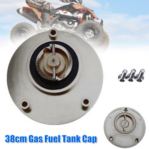 38CM Motorcycle CNC Aluminum alloy Gas Fuel Tank Cap Cover Valve Breather w/Bolt