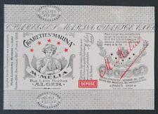 Etiquette Papier cigarette MELIA MARINA rolling paper zigarettenpapier label