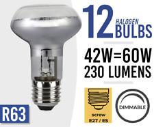 12x R63 Regulable Halógeno Bombilla Spot E27-es 42w = 60 vatios 6x Bombillas paquetes de 12