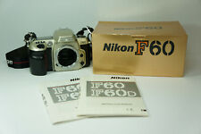 Vintage Nikon F60 35mm SLR Film Camera Black Body Only w/ Box and Manuals Tested