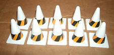1/18 Scale Safety Highway Cones (10 pcs) Car Model Diorama Railroad Accessories