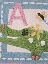 NEW Pottery Barn Kids ABC PINK ALLIGATOR BATH MAT! LAST ONE SOLD OUT!
