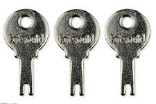 3 x Cotswold Cot1 Upvc Cockspur Window Handle Key  ** Free Postage **