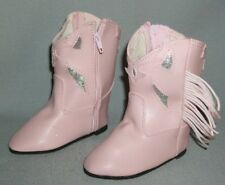 Cowboy Boots PINK ~ for Kissy, Big Ruthie Dolls ~ size 104mm (4 inches)