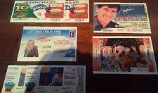 Biglietti lotteria Italia (7) 1997,1998,1999,2001,2002