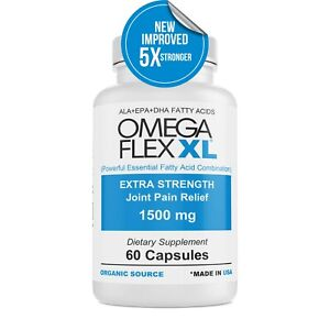 Omega Flex XL (NEW IMPROVED) Extra Strength  3- Potent Joint Pain Relief 60 ct
