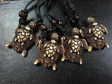 12 PCS Mother Son Turtle Fashion Tribal Biker Necklace Adjust Black Rope NG