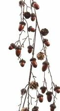 Autumn/Harvest/Thanksgiving Rustic Acorn and Cone Twig Garland - 110cm RED/BROWN
