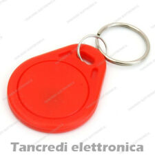 Tag token rfID 13.56 MHz per lettore RC522 compatibile NFC Arduino PIC rosso