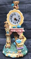 Vintage Teddy Bear Pendulum Mantle Clock Swing Pendulum Resin Teddy Lover Gift
