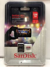 NEW San Disk Ultra microSDXC UHS-I Card with Adapter 128 GB SDSQUNC-128G-AULMA