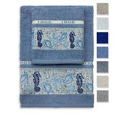 Set asciugamani bagno 1+1 in cotone viso e ospite IRGE articolo Stella 3203