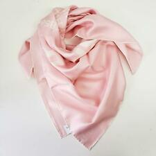 Burberry Square 100% Silk Shawl - Pink face scarf