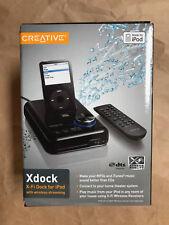 Creative Xdock X-Fi Dock with wireless streaming for iPod, NEW (SB0850)