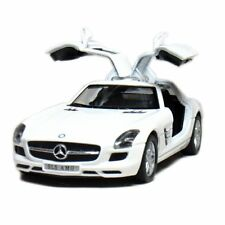 Mercedes-Benz SLS AMG, Scale 1:36 , Kinsmart Diecast Pull Back Toy Car - White