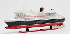 "RMS Queen Mary II Cruise Ship 40"" Built Ocean Liner Wooden Model Boat Assembled"