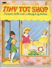 Vintage Uncut 1969 Tiny Tot Shop Paper Dolls Hd Laser Reproduction~Lo Pr~Hi Qu
