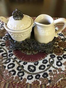 Drake Design Faith Collection Cream/Sugar Set Ivory