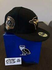 2013 NEW ERA OVO DRAKE TORONTO BLUE JAYS BLACK FITTED CAP HAT & BOX 7 3/4 six