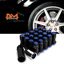 M12X1.5 Blue JDM Closed End Lug Nuts+Spline Locks+Key+Extension 22mmx45mm 20Pc