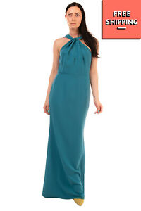 RRP €640 SACHIN & BABI Crepe Trumpet Gown Size 6 / M Keyhole Front Twisted