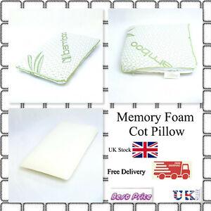 Bamboo Memory Foam Cot Pillow Super Soft- Kids, Junior Toddler Pillow 25x40CM