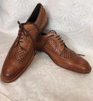 Manolo Blahnik Shoe Brown Leather Oxfords Lace UpSize 40 New