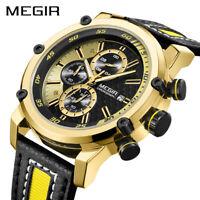MEGIR Chronograph Sport Men Watch Luxury Quartz Watches Men Wrist watches