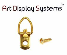 Ams 1 Hole Narrow Bp D-Ring Hanger 6 1/2 Screws– 100 Pack by Art Display Systems