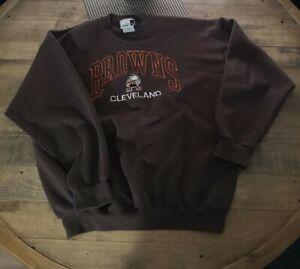 Vintage Retro Cleveland Browns Brown Jumper Puma Size XL NFL American Football