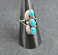 Vintage native American style silver ring, turquoise stone
