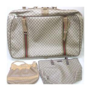 Gucci PVC Shoulder/Hand/Travel Bag 3 pieces set 525420