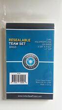 CSP Team Set Bags Protectors 100ct Pk Resealable No PVC NIP 3 3/8x4 1/2 + 1