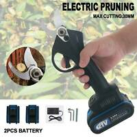 30mm Electric Pruning Shears Pruner Trimmer Branch Scissors Garden Rechargeable