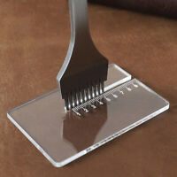 Acrylic Plate for Helping Leather Hole Punches DIY Hand Stitching Punch Tool Dz