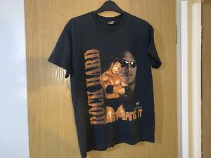 Vintage The Rock WWF Wrestling T Shirt Size Kids 12-14 From 2000