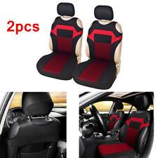 2pcs T-shirt Design Car Seat Cover Car Accessories interior Black&Red Washable