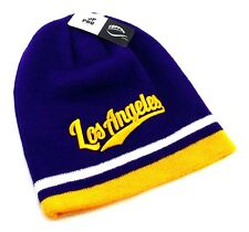 Los Angeles LA TopPro New Beanie Toque Skull Lakers Purple Gold Era Hat Knit Cap
