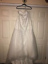 Ada's Bridal Strapless Tulle Ball Gown Wedding Dress with Corseted Bodice