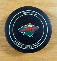 IOWA WILD Minnesota Wild Minor League Hockey Team Souvenir Viceroy Official Puck
