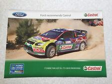 AFFICHE POSTER FORD FOCUS WRC LATVALA RALLYE ITALIA SARDAIGNE 2009 RALLY
