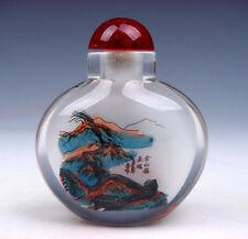 Peking Glass Inside Reverse Hand Painted China Great Wall Snuff Bottle #06051717
