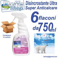 Sanitec Disincrostante Bagno Ultra Anticalcare Professionale. Confezione 6 pezzi